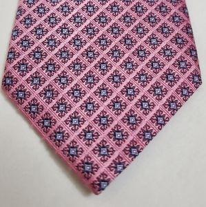 Daniel de Fasson Pink Geometric Print 100% Silk